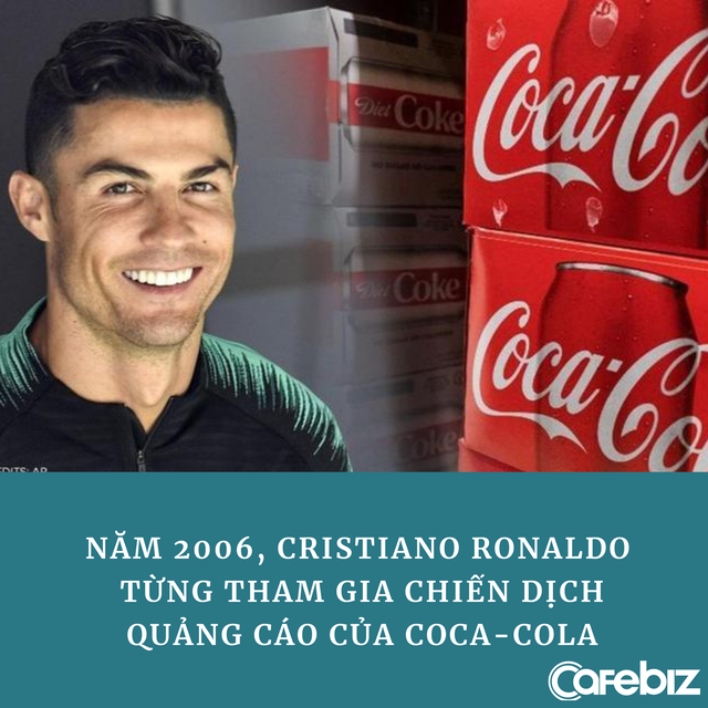 Ronaldo từng quảng cáo cho Coca Cola trước khi thẳng tay 'dẹp' 2 chai nước ngọt, khiến hãng mất 4 tỷ USD - Ảnh 2.