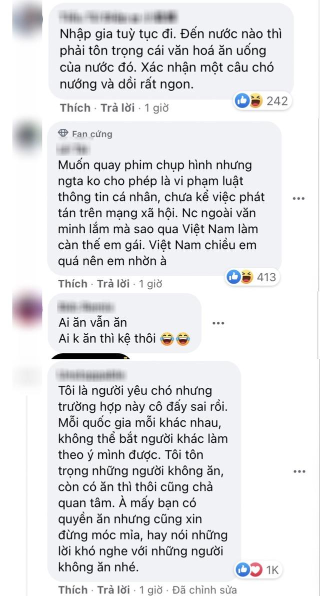 Nữ người mẫu Ukraina nói người Việt ăn thịt chó là vô nhân đạo, nhiều người khuyên nên tôn trọng văn hoá ẩm thực địa phương - Ảnh 3.