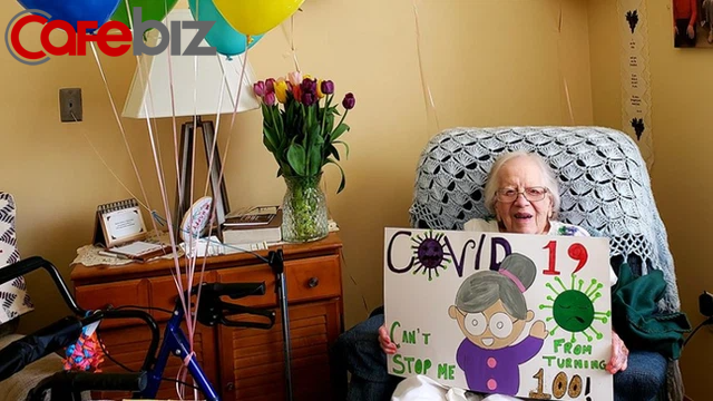 Cụ bà mừng sinh nhật 100 tuổi sau khi đánh bại virus Corona - Ảnh 3.
