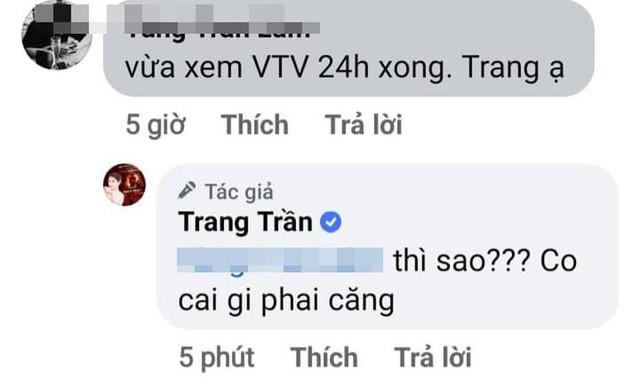 Sau khi VTV lên án livestream văng tục vô văn hóa, thiếu chuẩn mực, Trang Trần phản ứng: Làm sao? Có gì căng? - Ảnh 3.