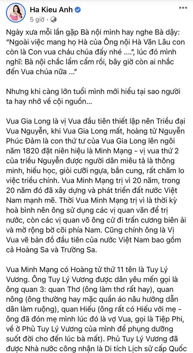 Hoa hậu Hà Kiều Anh đáp trả 1 tràng khi bị netizen thắc mắc về drama tự nhận là công chúa đời thứ 7 triều Nguyễn - Ảnh 5.