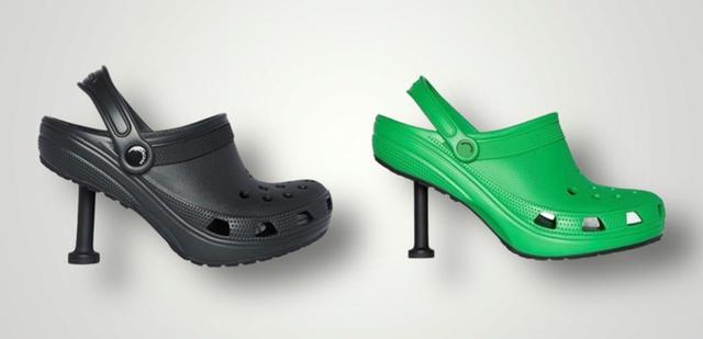 Thương hiệu xa xỉ Balenciaga tung mẫu dép cao gót Crocs có giá dự kiến 1.000 USD - Ảnh 1.