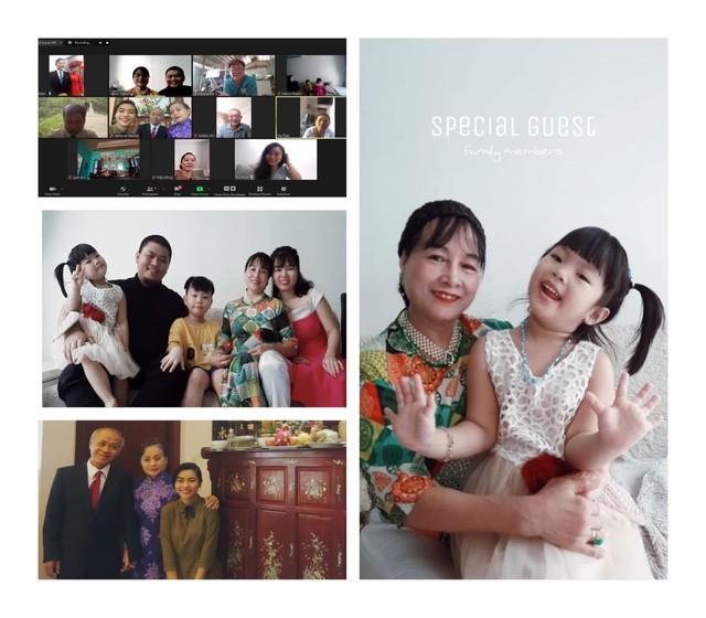 Đám cưới mùa dịch của cặp đôi Sài Gòn tổ chức trên Zoom, họ hàng phấn khởi dự tiệc online - Ảnh 5.