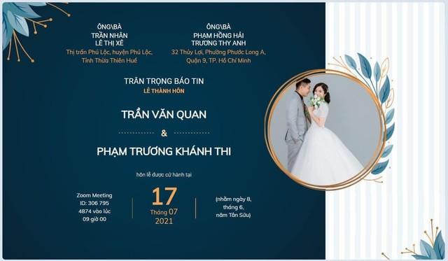 Đám cưới mùa dịch của cặp đôi Sài Gòn tổ chức trên Zoom, họ hàng phấn khởi dự tiệc online - Ảnh 2.