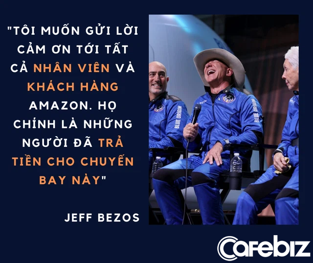 Đốt 5,5 tỷ USD cho 11 phút bay vào không gian, Jeff Bezos gây phẫn nộ khi cảm ơn nhân viên, khách hàng Amazon vì đã 'trả tiền cho chuyến bay này  - Ảnh 1.
