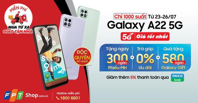 FPT Shop độc quyền bán ra Galaxy A22 5G đi kèm ưu đãi thiết thực - Ảnh 1.