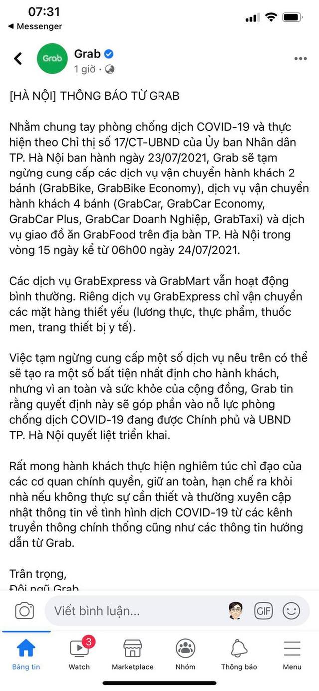 Quán xá Hà Nội đồng loạt đóng cửa, không một bóng dáng shipper trong ngày đầu thực hiện chỉ thị 16 - Ảnh 1.