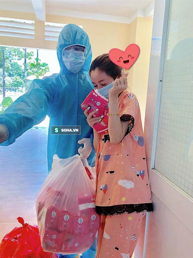 Giám đốc Đồng Nai tặng nguyên xe băng vệ sinh cho khu phong tỏa: Vì phụ nữ là để yêu thương - Ảnh 3.