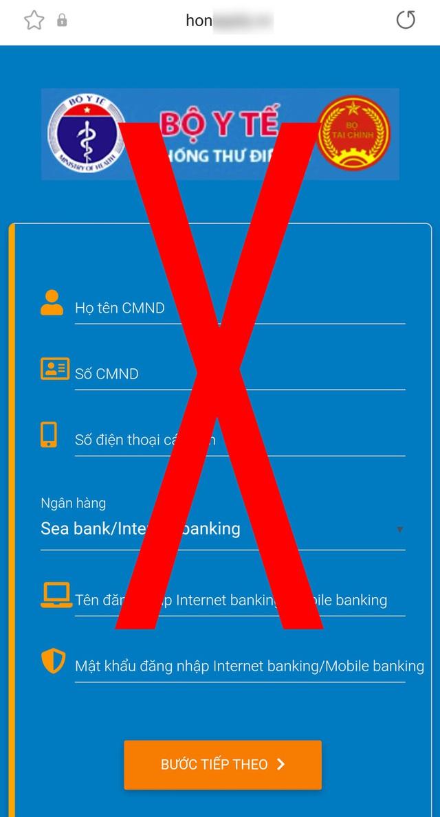 Giả mạo website đăng ký tiêm chủng của Bộ Y tế để đánh cắp tài khoản ngân hàng - Ảnh 4.