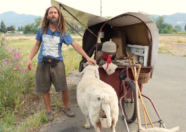 12 năm phiêu diêu tự tại của người đàn ông sống trong ngôi nhà di động là chiếc xe ba bánh cũ vỏn vẹn 2 mét vuông và nuôi 4 con cừu làm bạn đồng hành  - Ảnh 1.