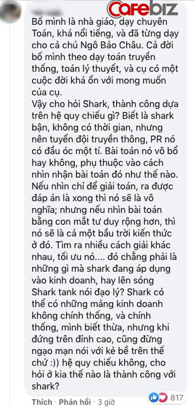 Đăng 1 câu đố toán học nhưng đáp án của Shark Bình lại khiến cộng đồng mạng dậy sóng: Chơi nhiều học kém vẫn thành công, bởi không phí công học Toán khó? - Ảnh 3.