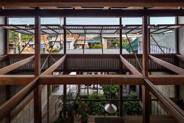 Ngôi nhà lụp xụp ở Châu Đốc lột xác ngoạn mục nhờ KTS Nhật Bản, view rộng bao la bước đến đâu chill đến đó - Ảnh 4.