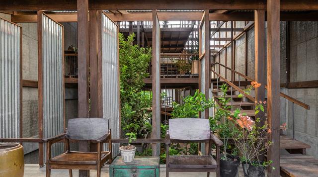 Ngôi nhà lụp xụp ở Châu Đốc lột xác ngoạn mục nhờ KTS Nhật Bản, view rộng bao la bước đến đâu chill đến đó - Ảnh 5.