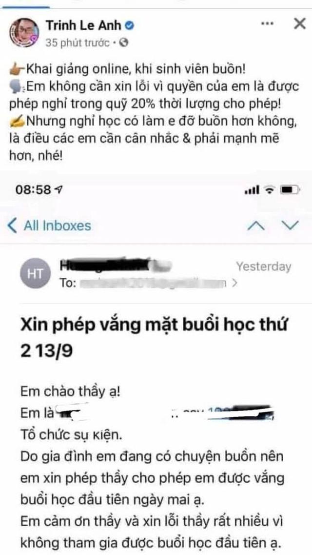 Thầy Lê Anh sử dụng mạng xã hội Facebook là quyền tự do ngôn luận và thông tin cá nhân - Ảnh 1.