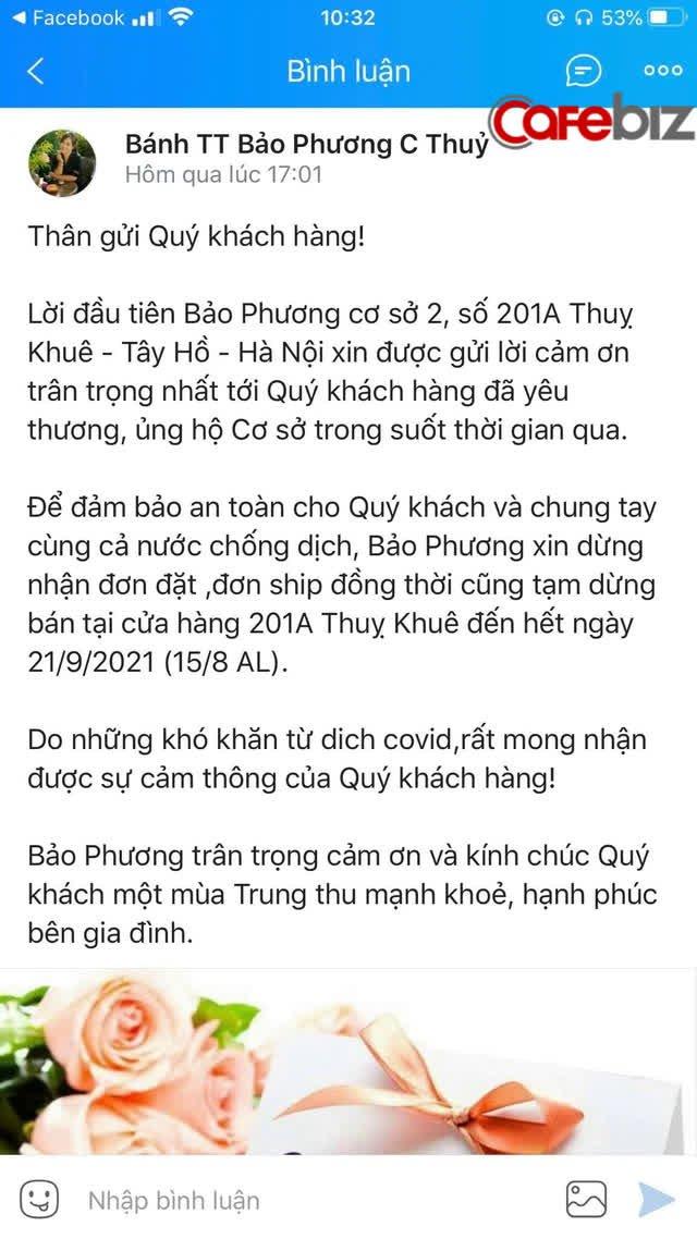 Khách mua chen lấn, không tuân thủ 5K, tiệm bánh trung thu có tiếng nhất Hà Nội phải đóng cửa đến hết Rằm  - Ảnh 1.