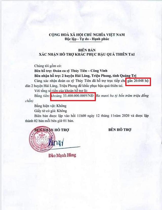 Chính quyền địa phương lên tiếng về những điểm bất thường trong loạt giấy tờ của vợ chồng Thuỷ Tiên, Công vinh - Ảnh 2.