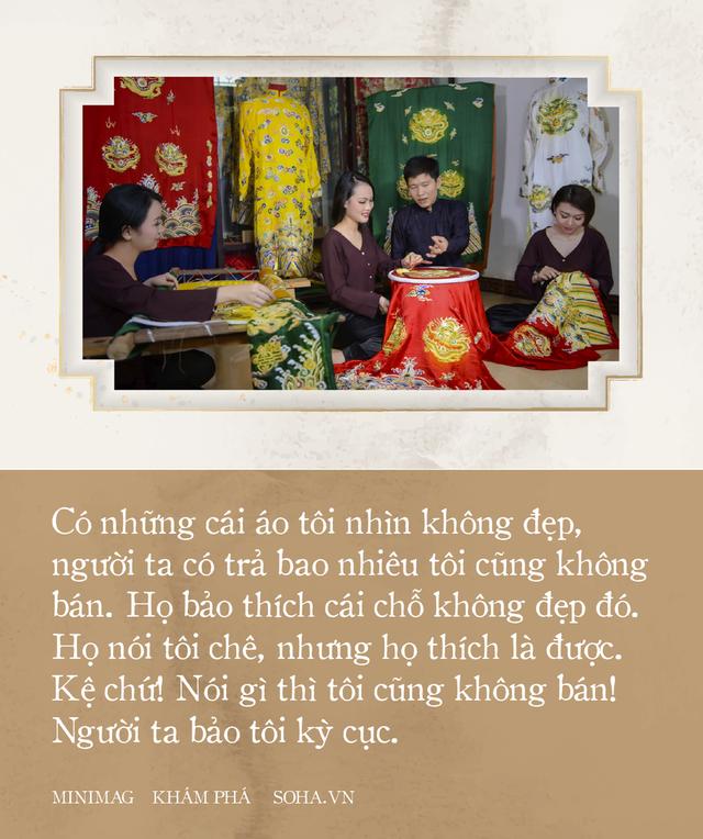 'Phù thủy' của những chiếc áo trăm triệu duy nhất Việt Nam: Áo vua mặc thế nào tôi thêu đúng như thế, chuẩn đến từng milimet - Ảnh 1.