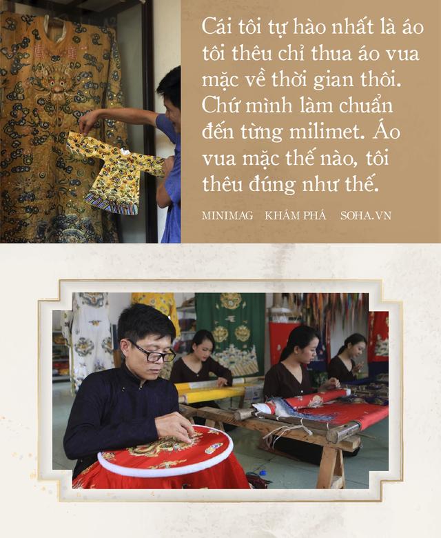 'Phù thủy' của những chiếc áo trăm triệu duy nhất Việt Nam: Áo vua mặc thế nào tôi thêu đúng như thế, chuẩn đến từng milimet - Ảnh 8.
