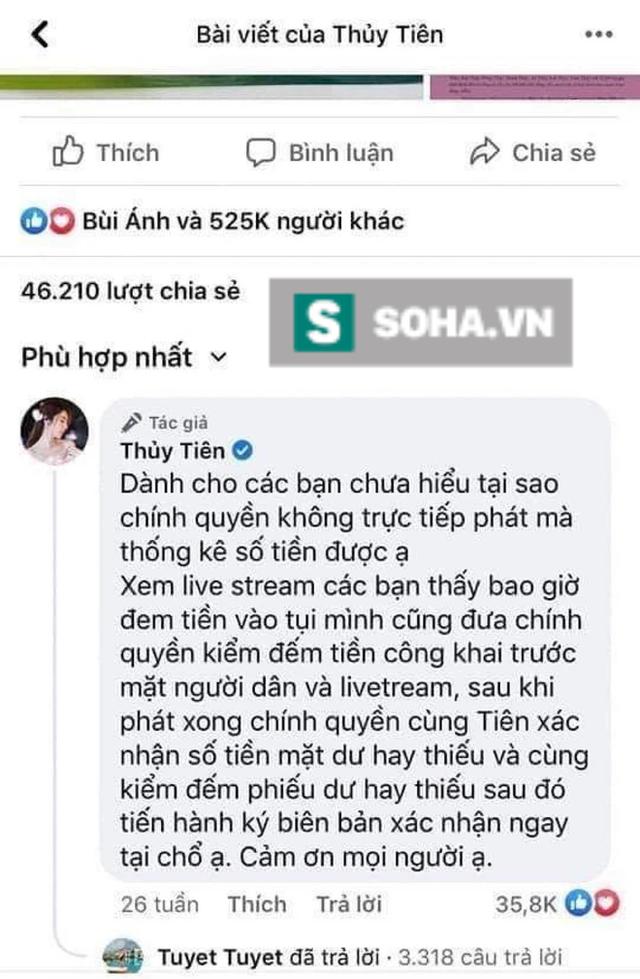Chủ tịch Ủy ban MTTQ tỉnh Quảng Trị phản hồi Thủy Tiên: Chúng tôi không kiểm đếm số tiền, chỉ có trách nhiệm hỗ trợ - Ảnh 1.