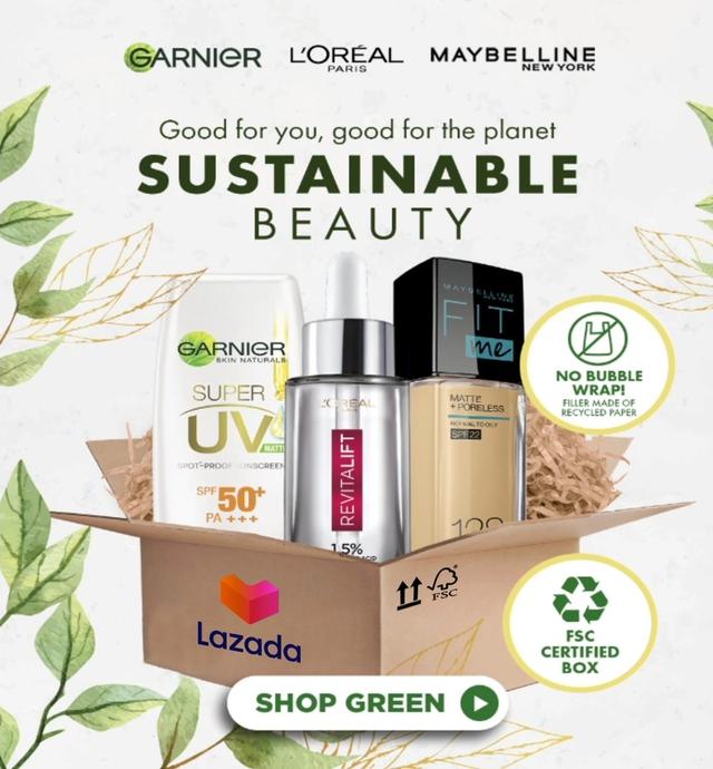 Làm đẹp bền vững: L'Oréal hợp tác cùng Lazada nỗ lực giảm bao bì nhựa và tăng vật liệu tái chế  - Ảnh 3.