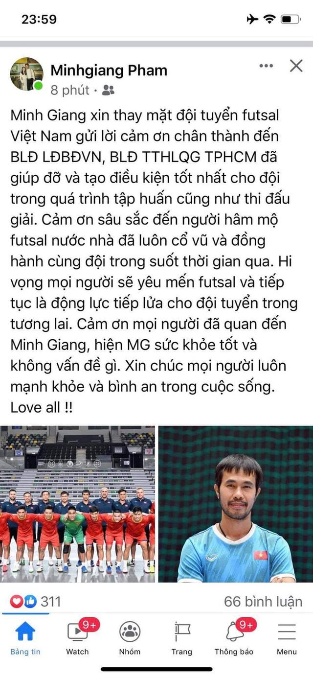 HLV Phạm Minh Giang của ĐT Futsal Việt Nam mắc COVID-19 - Ảnh 3.