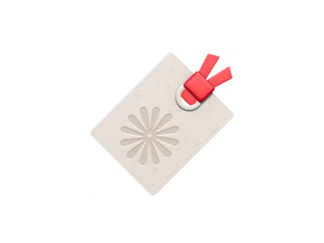 Không phải thẻ quà tặng, đây là thẻ đánh dấu (bookmark).