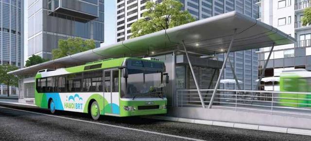 Di chuyển lên BRT khi xe tới nhà chờ