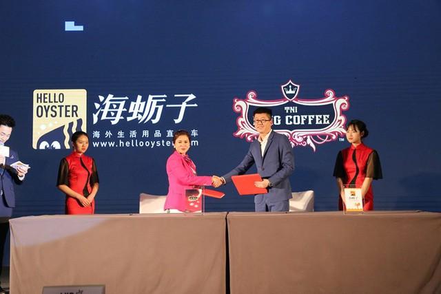 TNI Corporation kí kết hợp tác với Hello Oyster phân phối sản phẩm King Coffee tại thị trường Trung Quốc.