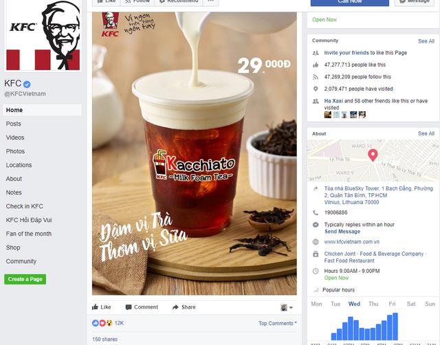 Không chỉ có Golden Gate, một đại gia F&B khác là KFC cũng vừa nhảy vào thị trường trà sữa - Ảnh 1.
