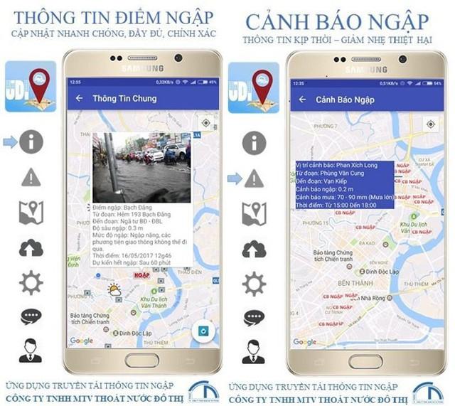 Ứng dụng phát hiện ngập úng đầu tiên của Việt Nam