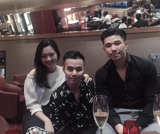 Từ trái sang: Anh Sa, Hoàng Minh, Hoàng Việt... là thế hệ giàu có thứ 2 của Tập đoàn Tân Hoàng Minh.