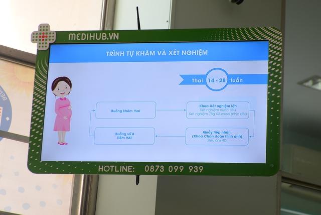 Một màn hình của dự án tại Bệnh viện Hùng Vương, TP HCM.