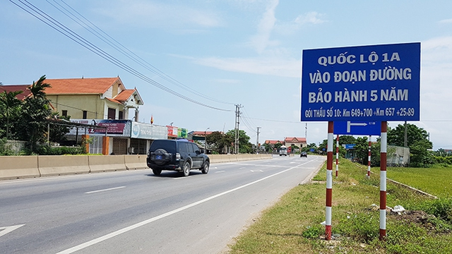 Gói thầu bảo hành 5 năm trên Quốc lộ 1 do Tập đoàn Sơn Hải thi công là gói thầu duy nhất không hằn lún vệt bánh xe và đạt giải xuất sắc.