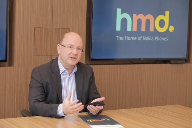 Ông Florian Seiche, Chủ Tịch của HMD Global toàn cầu