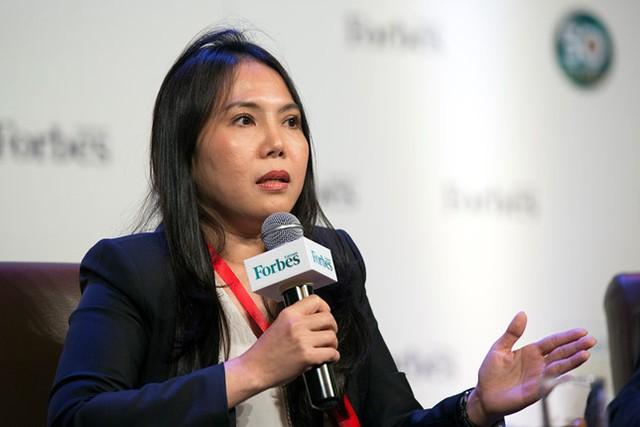 Bà Minh Phương ở sự kiện do Forbes tổ chức ngày 14/9. Ảnh: Forbes