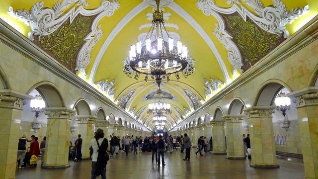 Một trạm dừng ở Moscow được trang trí đẹp mắt bởi Mosmetrostroy