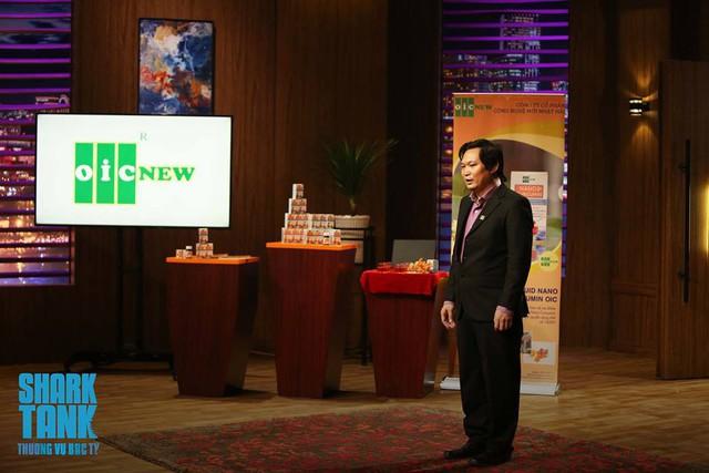 Anh Lưu Hải Minh – Founder của Nano Curcumin. Ảnh: Shark Tank Việt Nam.