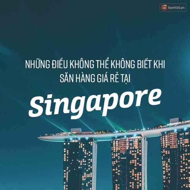 14 chiêu phải nhớ nếu bạn muốn đi săn hàng sale ở Singapore mùa cuối năm - Ảnh 1.