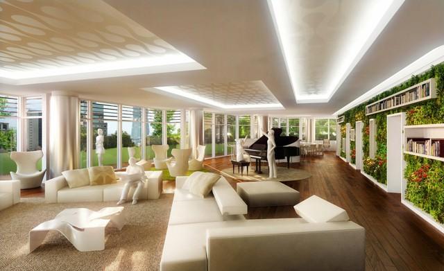 Có 40 căn hộ sang trọng, rộng rãi được thiết kế theo phong cách Âu được sử dụng bên trong.