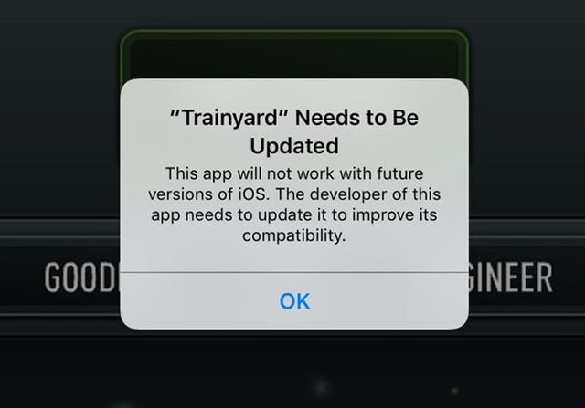 Ứng dụng này không hoạt động được trên các phiên bản tương lai của iOS. Nhà phát triển nó phải cập nhật để cải tiến tính tương thích.