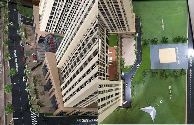 Chủ đầu tư Văn Phú Trung Kính giải thích Dự án gồm 2 phần công trình khu chung cư và trường tiểu học.
