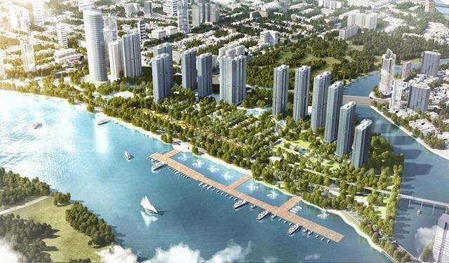 Bất động sản nhà ở của nước ta đã thu hút nhiều doanh nghiệp đầu tư mạnh. Trong ảnh là dự án Vinhomes Golden River, thuộc trung tâm phức hợp Sài Gòn - Ba Son tại quận 1, TP.HCM.