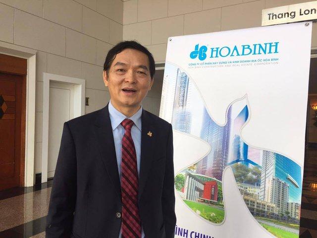 Ông Lê Viết Hải, Chủ tịch HĐQT CTCP Xây dựng và Kinh doanh địa ốc Hòa Bình. Ảnh H.Y