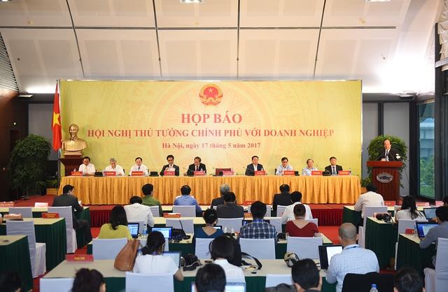 Quang cảnh buổi họp báo. Ảnh: VGP/Quang Hiếu