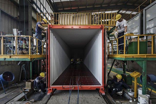 quy trình sản xuất container