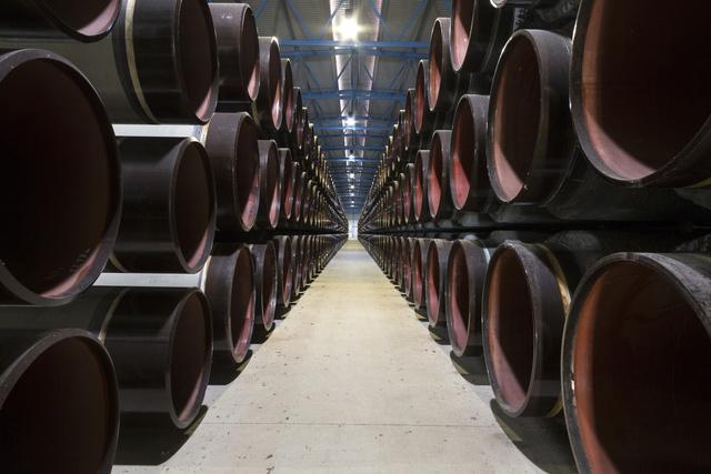Đường ống được tích trữ tại Lubwin-Đức cho dự án Nord Stream 2