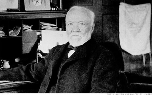 Ông Vua Thép của nước Mỹ - doanh nhân Andrew Carnegie.