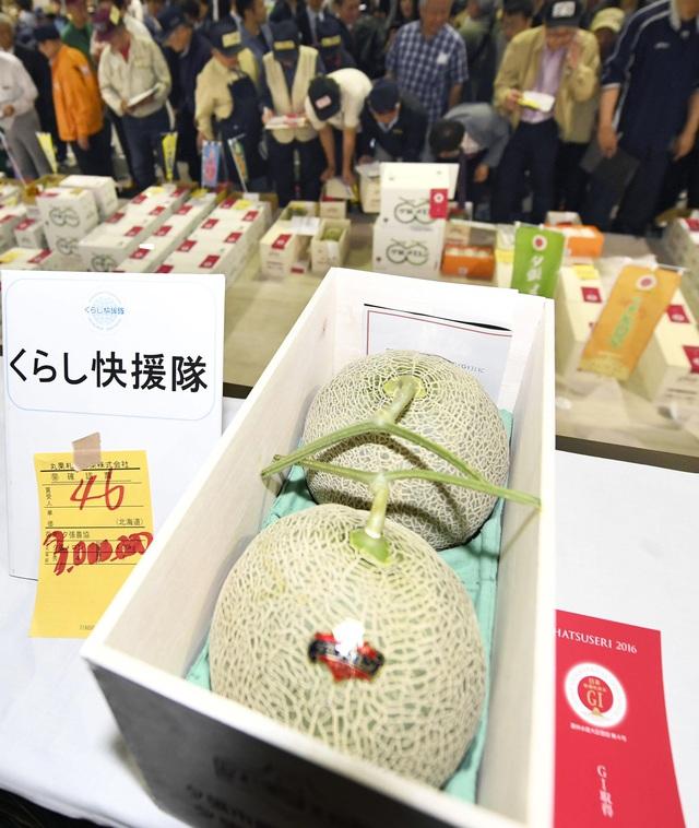 Hai quả dưa có giá 3 triệu yên