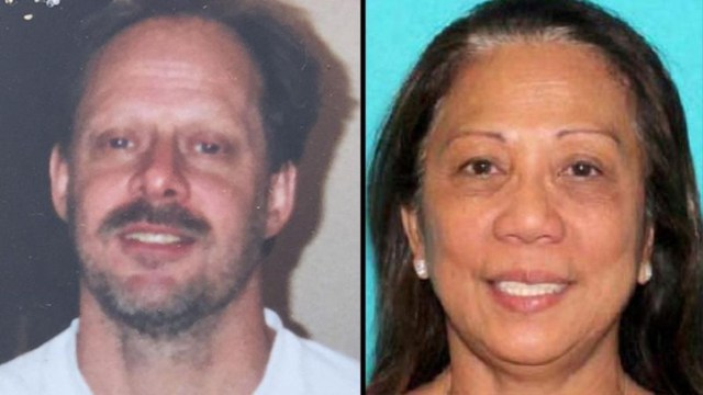 Bà Marilou Danley (phải), 62 tuổi, được cho là bạn gái và đang sống chung nhà với nghi phạm Stephen Paddock. Ảnh: MIRROR.