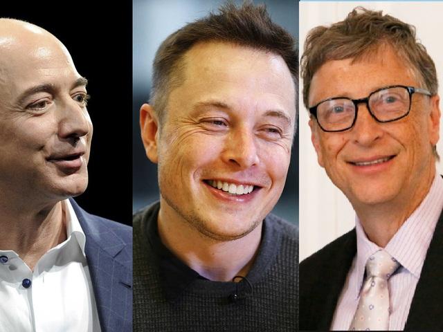 Từ trái qua phải: Jeff Bezos, Elon Musk và Bill Gates có 4 điểm chung giúp họ thành công như ngày hôm nay